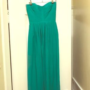 Parker Turquoise Silk Maxi Dress